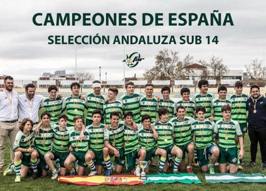 CAMPEONES DE ESPAÑA SELECCIÓN ANDALUZA SUB 14 (Estadio Municipal Sánchez Menor)
