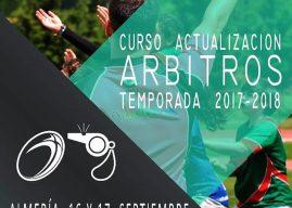 CURSO ACTUALIZACION DE ARBITROS 2017/2018