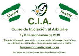 CURSO DE INICIACION AL ARBITRAJE. SEPTIEMBRE 2019