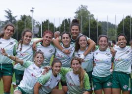 SELECCION ANDALUZA SEVEN SENIOR FEMENINO. Terceras de España. Fotografia Sólo Rugby desde Asturias